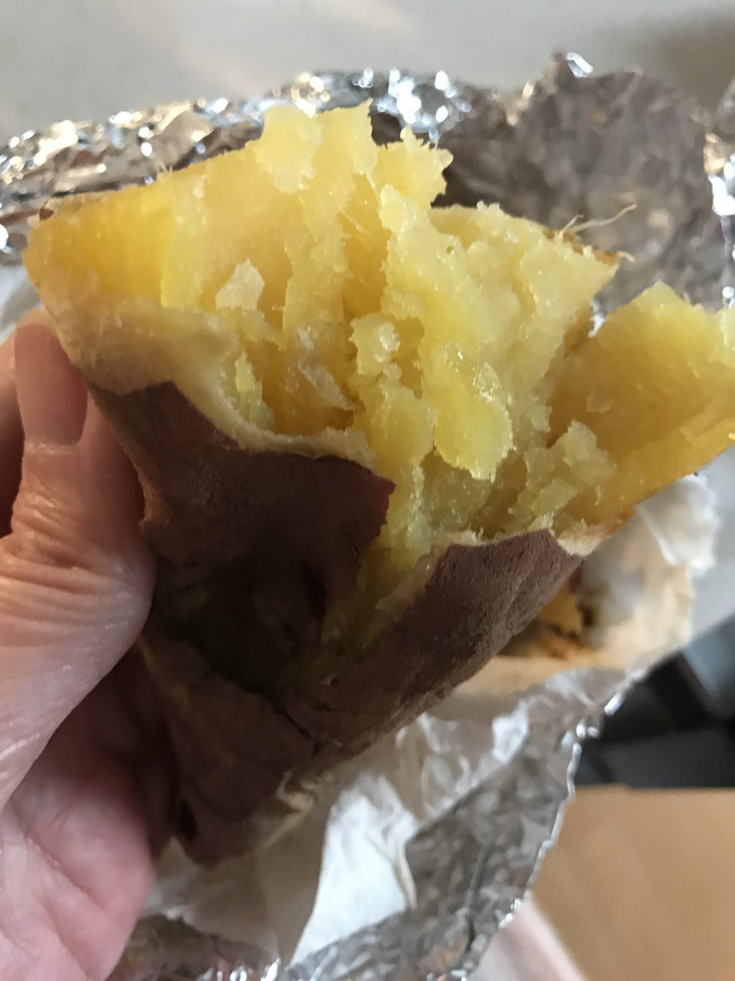 リクックで焼き芋
